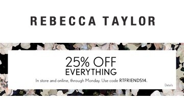 rebecca taylor coupon code