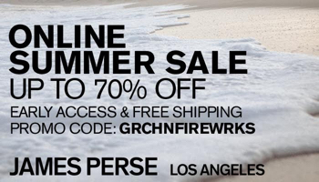 james perse private sale coupon code